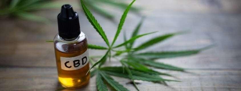 A bottle of full spectrum CBD oil